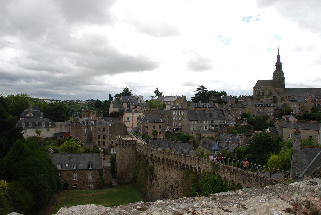 Panorámica de Dinan desde las murallas