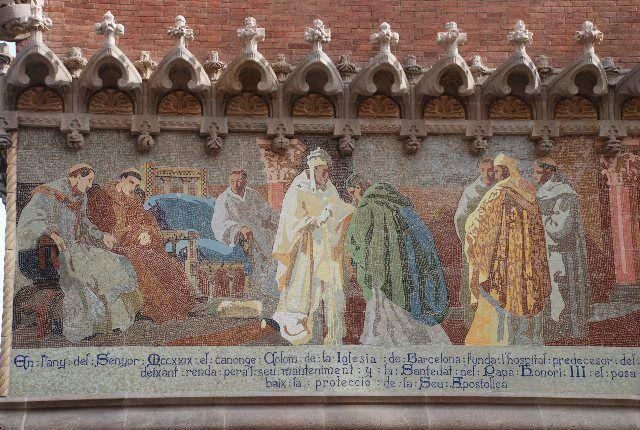 Fachada del Hospital de Sant Pau