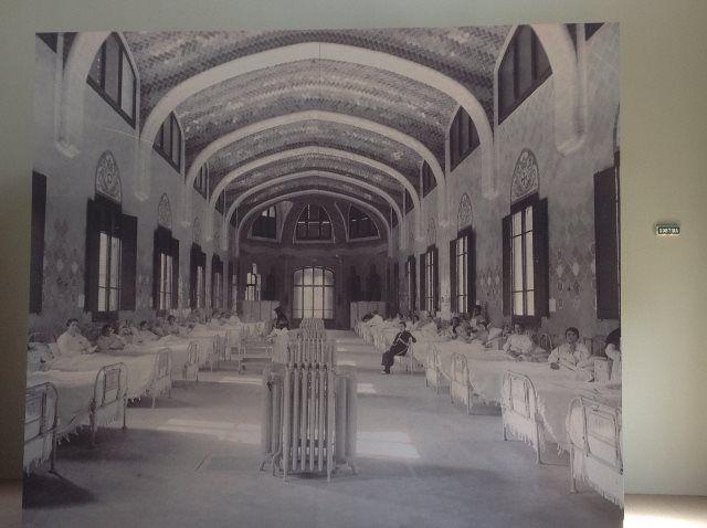 Foto antigua de los pabellones