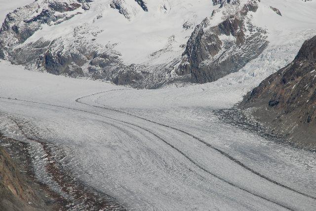 El Aletsch a su paso por el Eggishorn