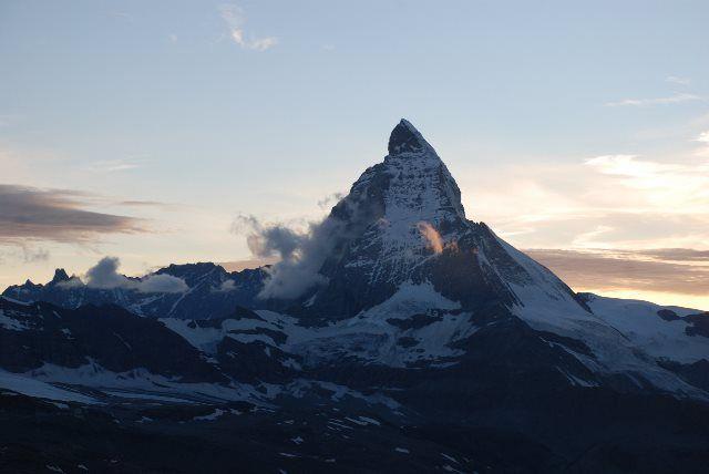 Las últimas luces del Matterhorn