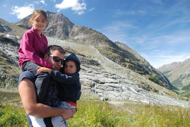 Ante el glaciar de Mattmark