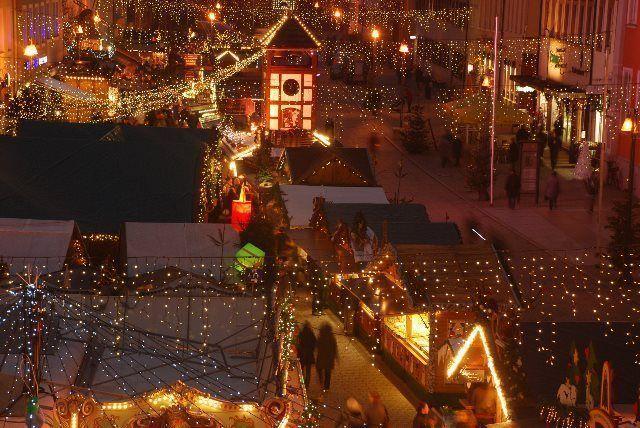 Atmósfera navideña en el mercado de adviento de Speyer