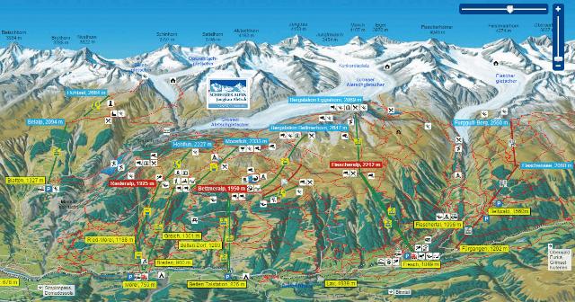Mapa de Aletsch Arena