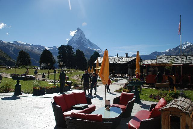 El lounge del hotel y el restaurante Al Bosco
