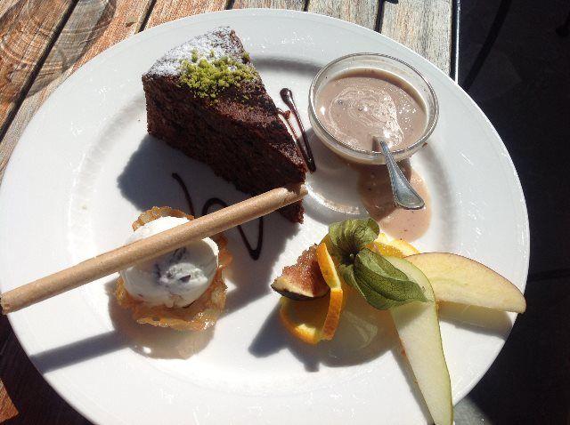 Pastel de chocolate con Baileys