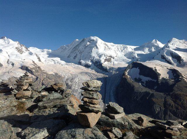 Glaciares desde el Gornegrat