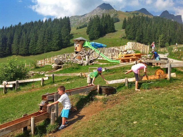 Un gran parque alpino en Ristis-Brunni