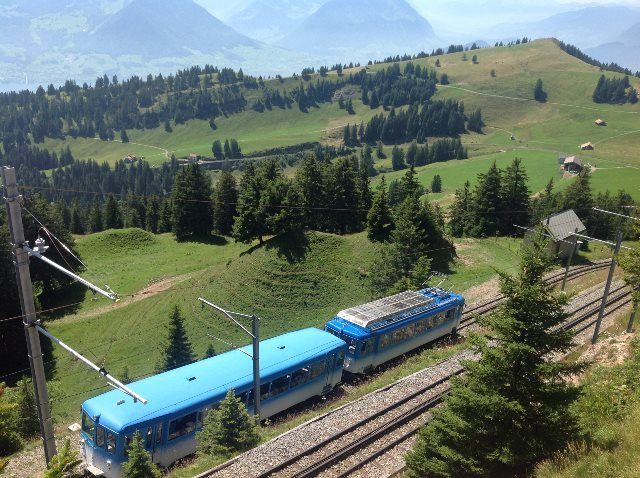 El tren que parte de Goldau
