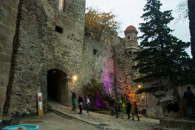 Entrada al castillo real de Colliure