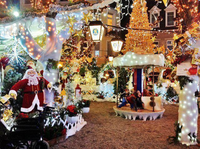 Escenario de cuento de Navidad