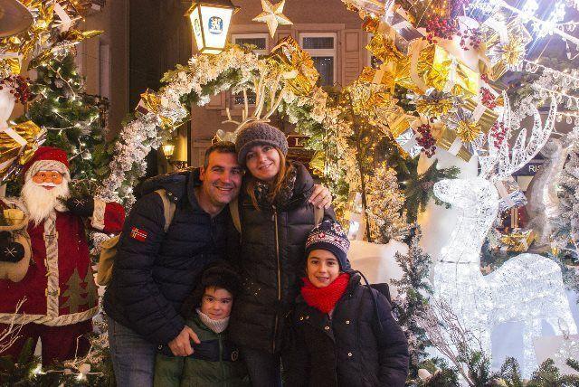 Postal de Navidad en Baden Baden