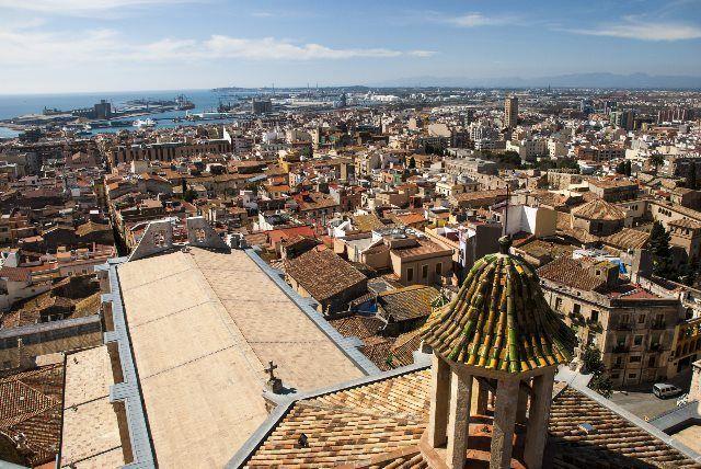 Vistas de la ciudad desde el campanario de la catedral