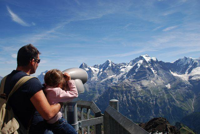 Los Alpes berneses desde el Schilthorn