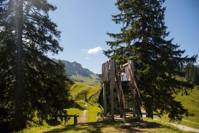 Parque infantil en Riggisalp (Schwarzsee)