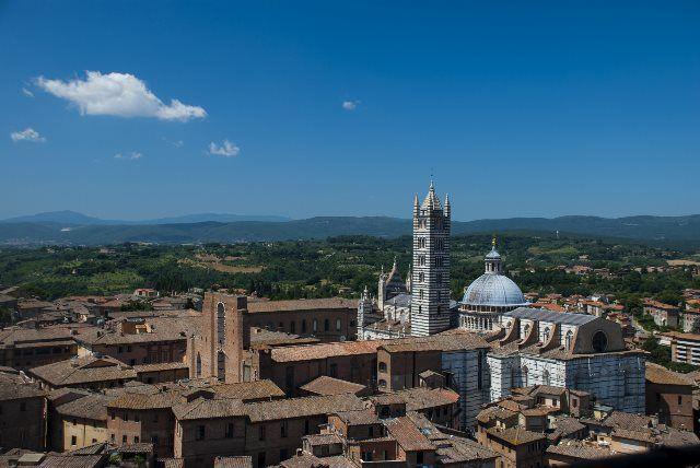 Vista Duomo de Siena desde la Torre Mangia