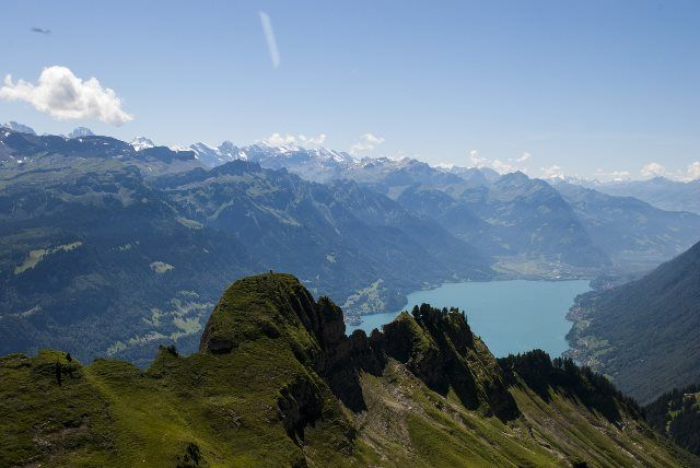 Crestas ante el lago de Brienz