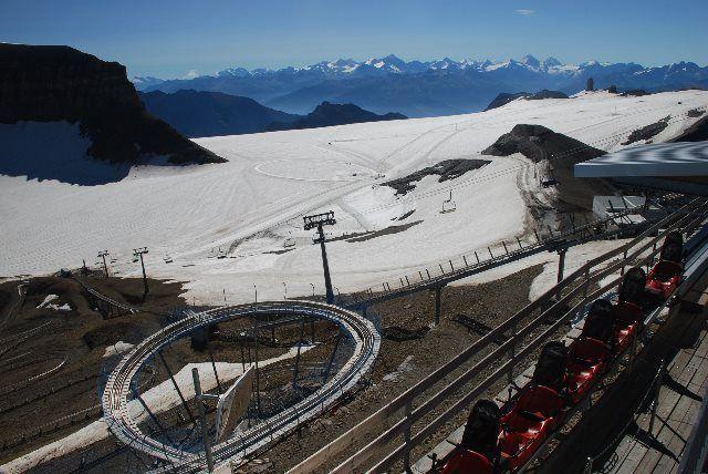 Tobogán de montaña de Glacier 3000