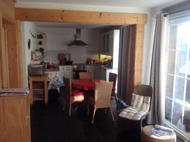 Cocina y comedor de los apartamentos