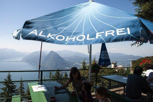 Disfrutando de las vistas del Lago Lugano