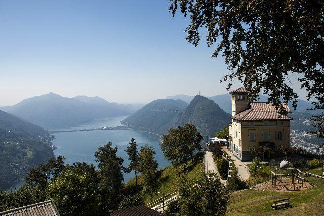 Lago Lugano y restaurante Vetta