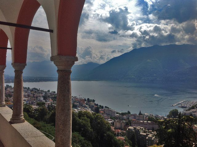 Lago Maggiore desde Madonna del Sasso