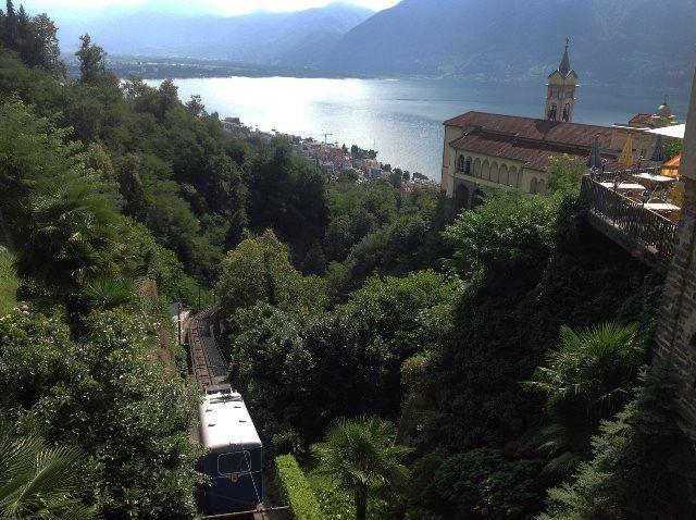 Madonna del Sasso y funicular de Locarno