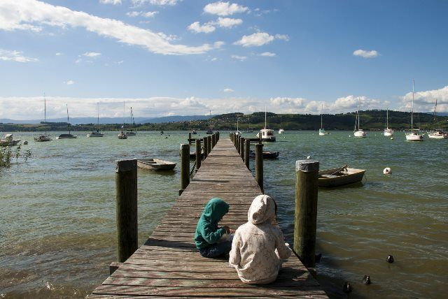 vista del lago de Murten