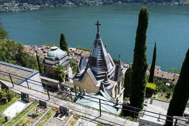 Lago Lugano desde el cementerio