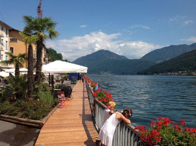 Belleza tropical del lago Lugano