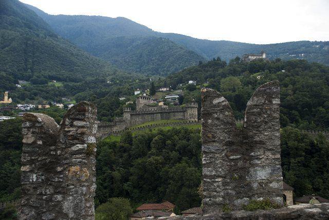 Panorámica castillos de Bellinzona