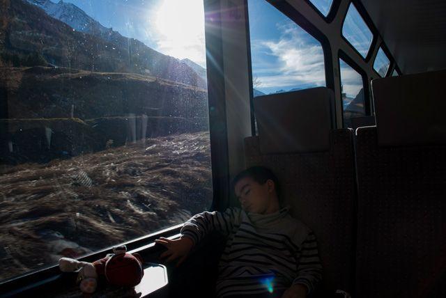 Los trenes suizos son muy cómodos