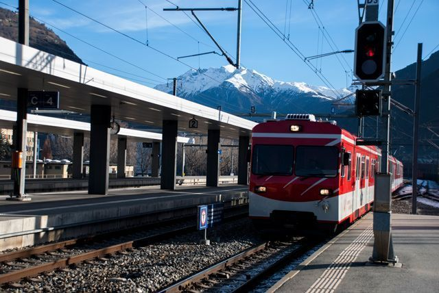 Tren hacia Zermatt