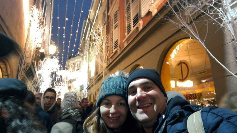Selfie en la calle de Oro