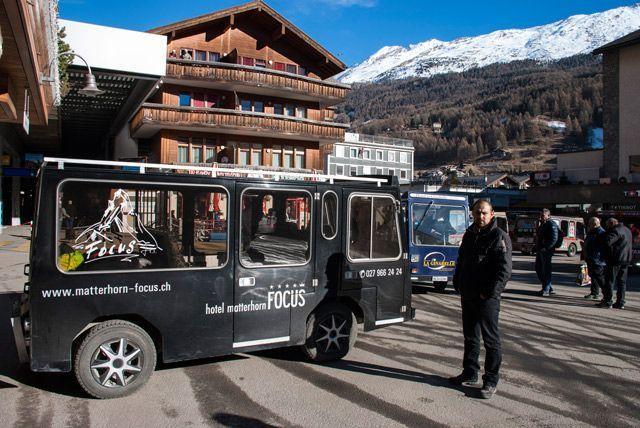 coches eléctricos en Zermatt
