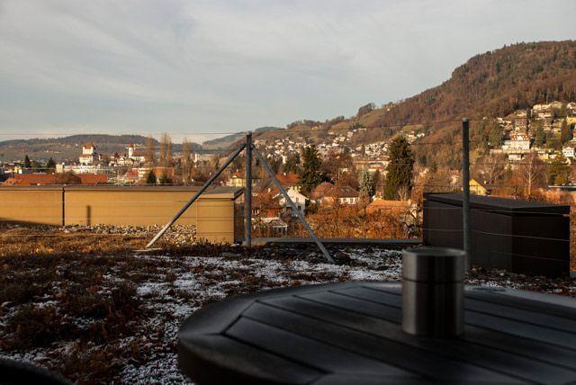 El castillo de Thun desde la otra terraza