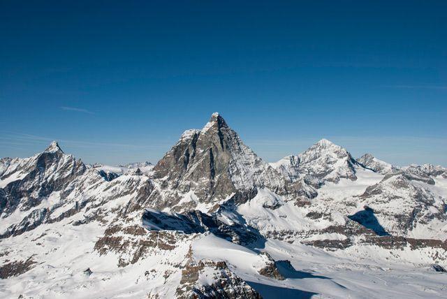 El Matterhorn desde el pequeño Cervino