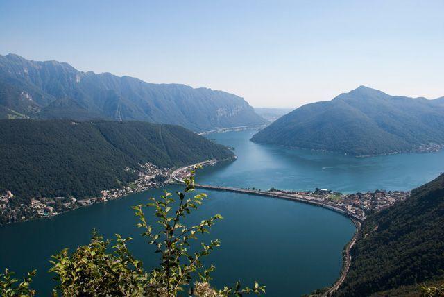 La parte sur del lago Lugano