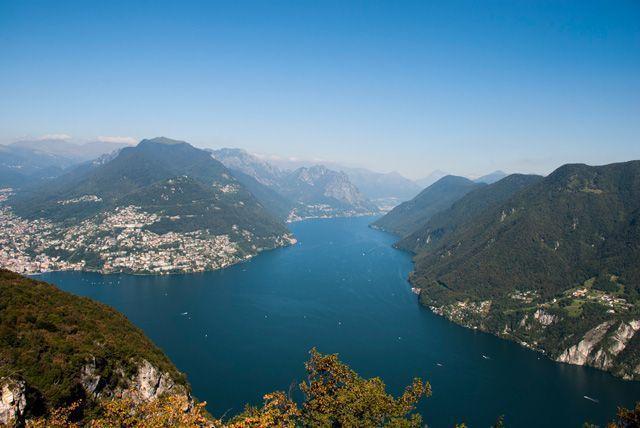 Monte Brè y lago Lugano