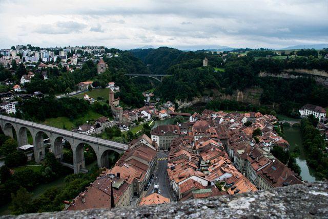 Vista de Friburgo desde la catedral