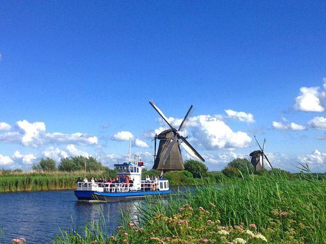 El barco de Kinderdijk