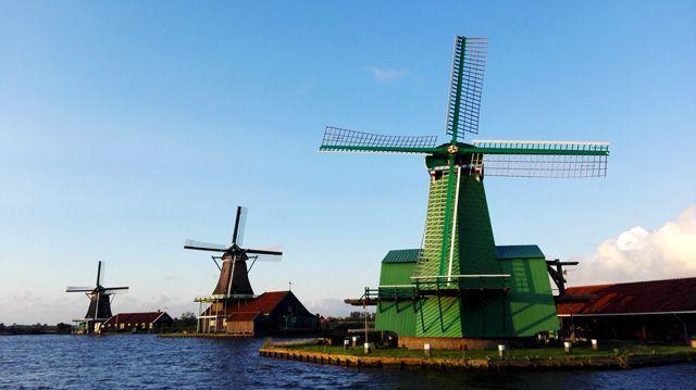 Zaanse Schans: molinos en el norte de Holanda