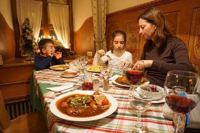 Cena en un Gasthof
