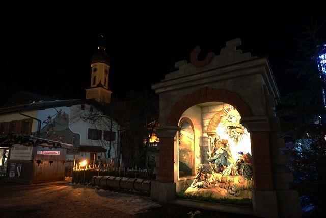 Escena navideña en Garmisch