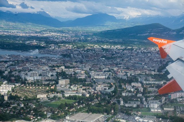 Ginebra desde el aire