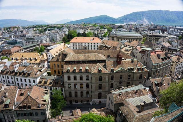 Vista de Ginebra desde la catedral