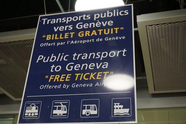 Transporte gratis a Ginebra
