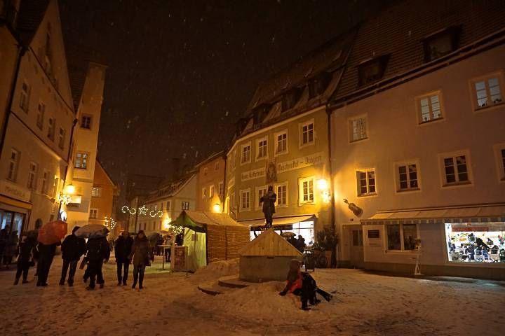 Jugando con la nieve en Füssen