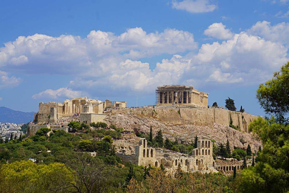 El acrópolis desde la colina Filopapos